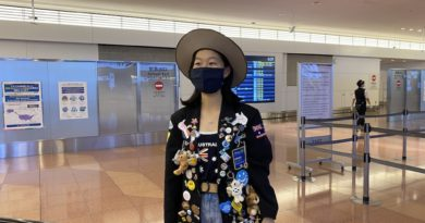 Keika FUKUYAMA return home.